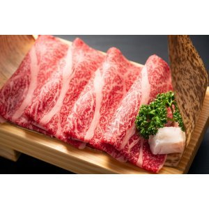 Sliced japanese marbled fatty wagyu ribeye beef